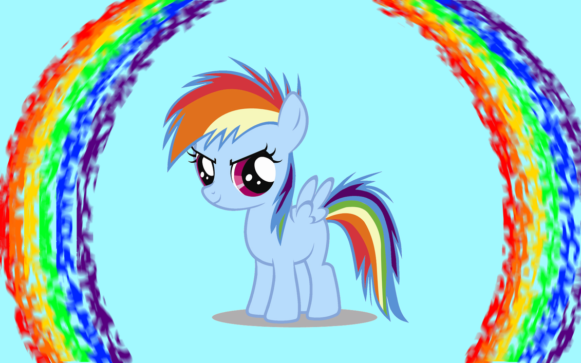 Rainbow Dash Filly Wallpaper by Angall3 on DeviantArt