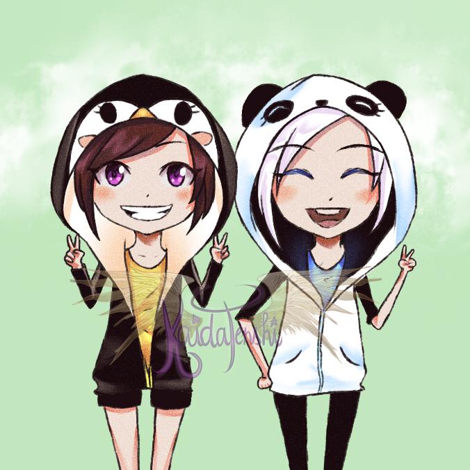 Digital version of Kaida and Liv chibi! by KaidaTenshi