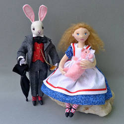 Alice, The Pig, and The White Rabbit