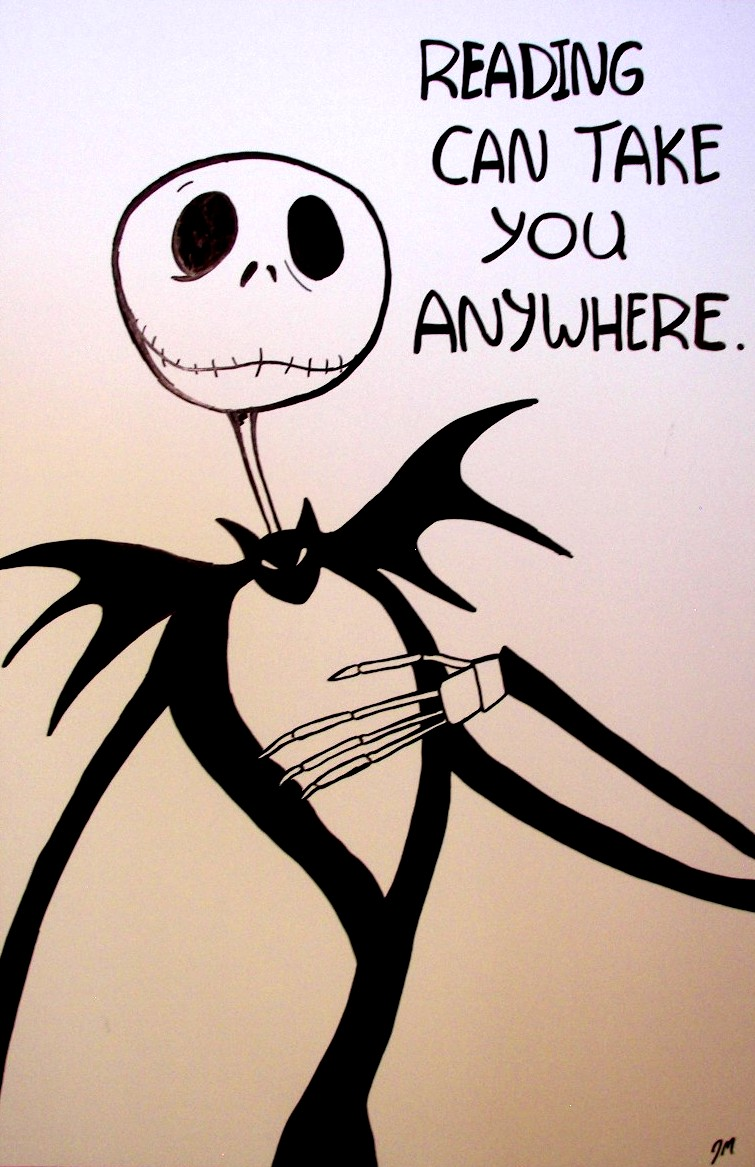 Jack Skellington Hand-Drawn Classroom Poster