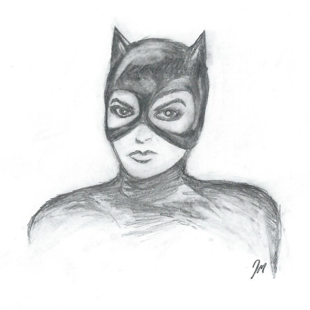 Catwoman (Pencil Sketch) by jonmarkiewitz on DeviantArt