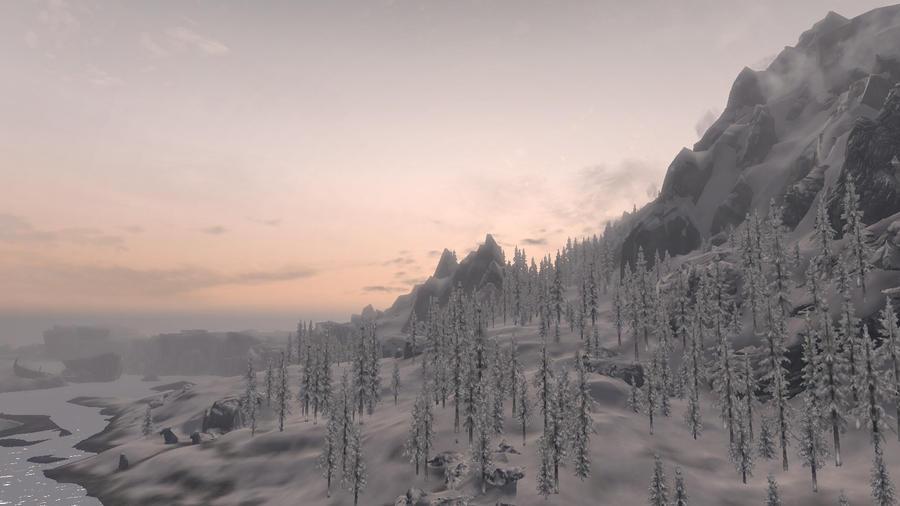 Sunrise in Skyrim 1 by Marina17