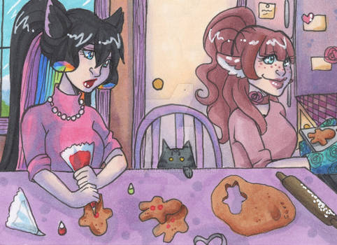 ACEO: Helping Hand - Makenzie Cookie Edition!