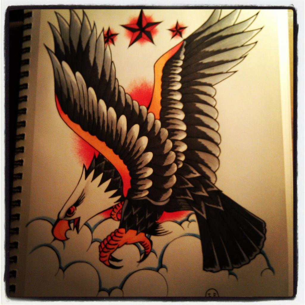 american eagle tattoo design by ivanf123 on deviantart. Black Bedroom Furniture Sets. Home Design Ideas