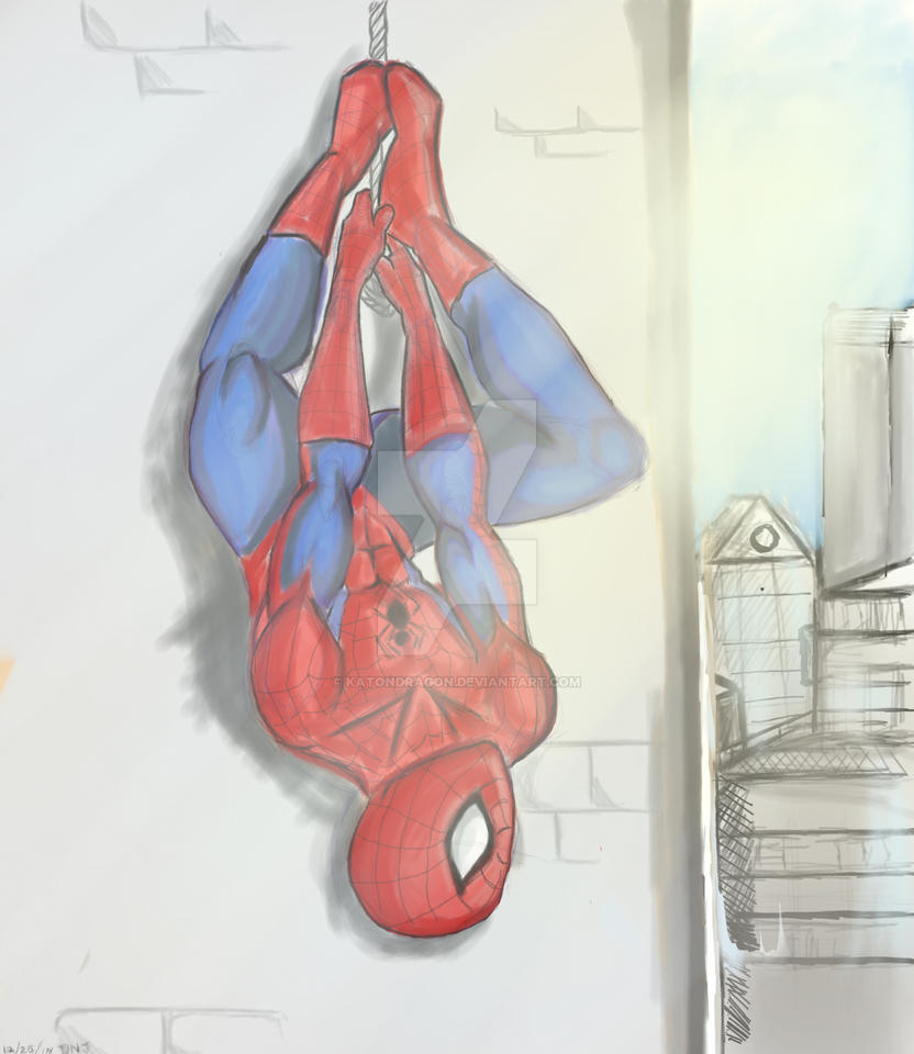 Spider-Man chilling in NYC by katondragon