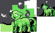 Tiny slimecat pixel by Dogquest