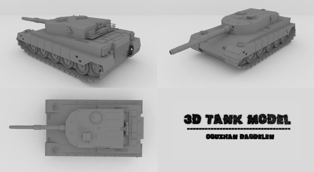 3D Tank Model 4h47min 41.748 Polygon by OguzhanDagdelen