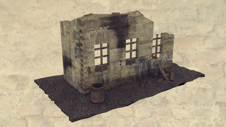Ruin Wall 3D Model by OguzhanDagdelen