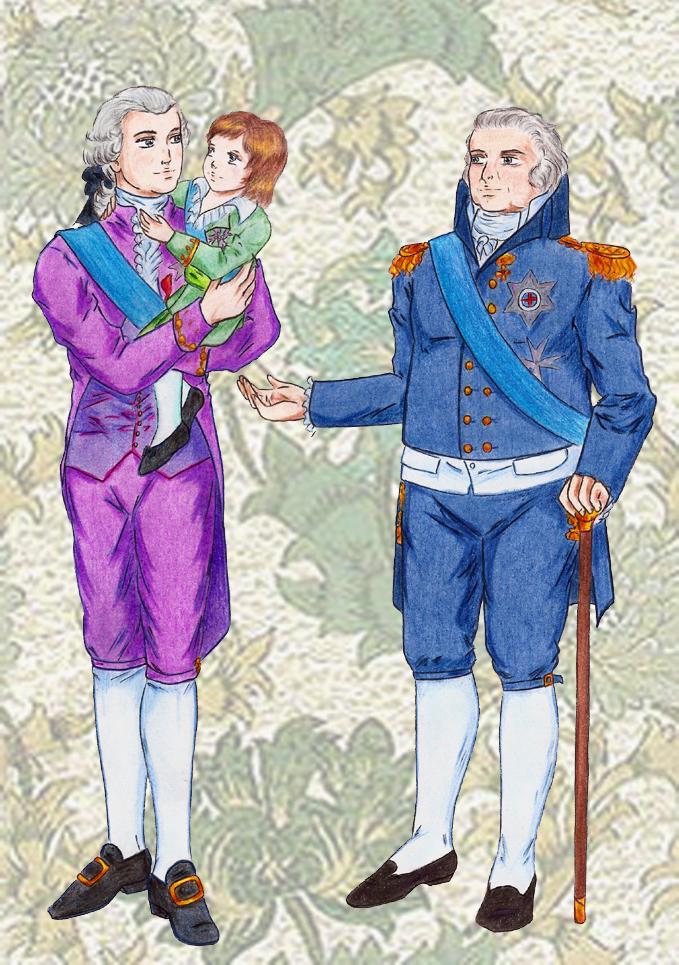 Louis XVI, Louis XVII and Louis XVIII by DraconsSon on DeviantArt