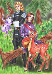 Octopus and Fawn by DraconsSon