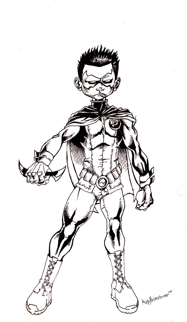 Damian Wayne Robin by KirbBrimstone