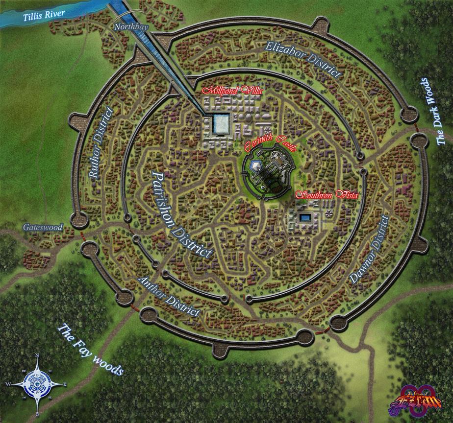 Ezran City Map By Kirbbrimstone On Deviantart