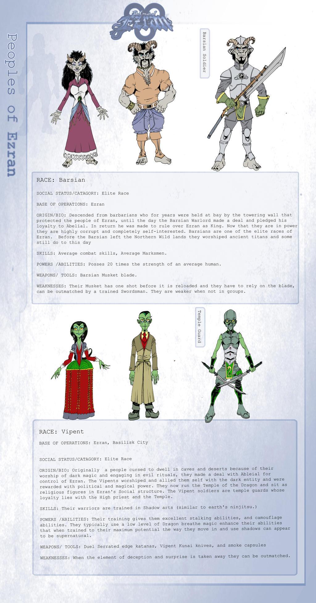 Peoples of Ezran 2 by KirbBrimstone