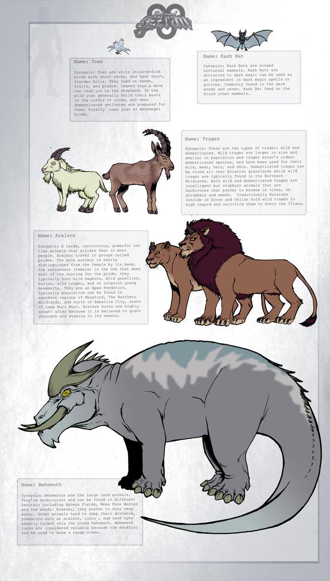 Creatures of Ezran 9 by KirbBrimstone