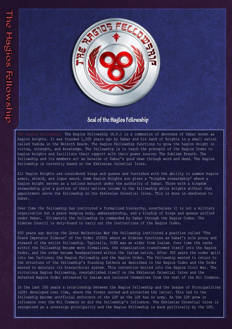 The Hagios Fellowship by KirbBrimstone