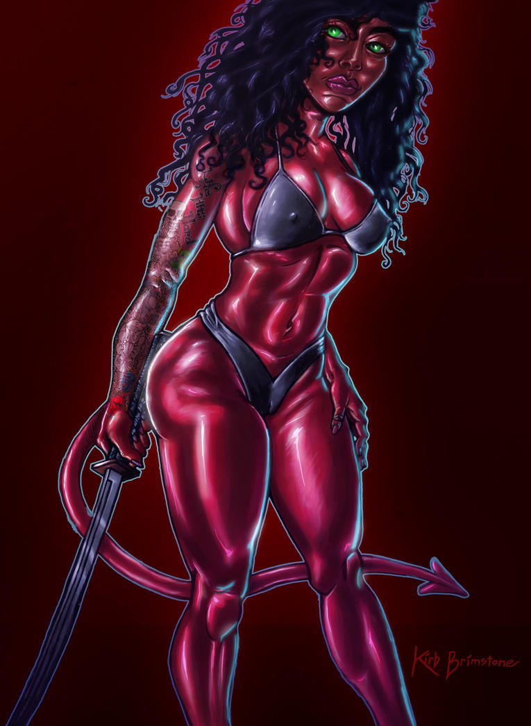 Red Devil Girl Pin-up by KirbBrimstone