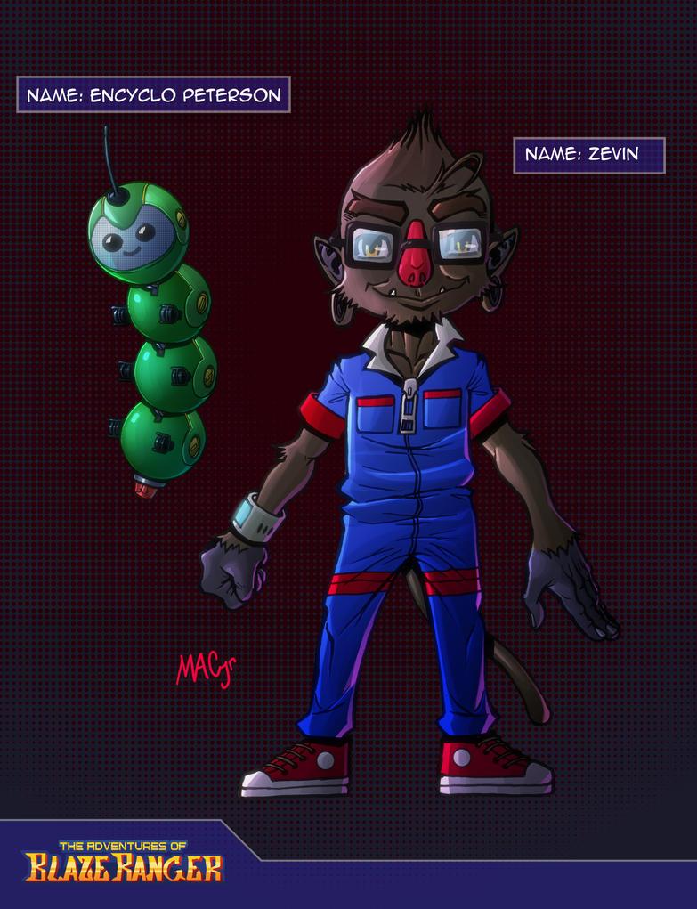 Zevin and Encyclo Character Sheet by KirbBrimstone
