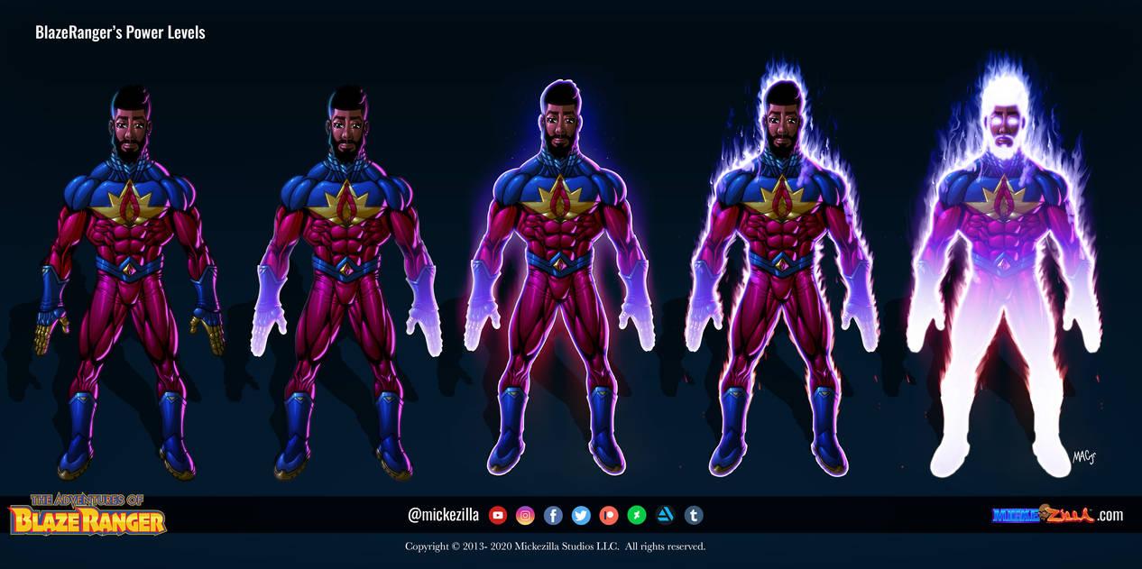 Blaze Ranger - Power Levels
