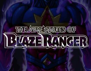 The Adventures of Blaze Ranger Logo v2 silhouette