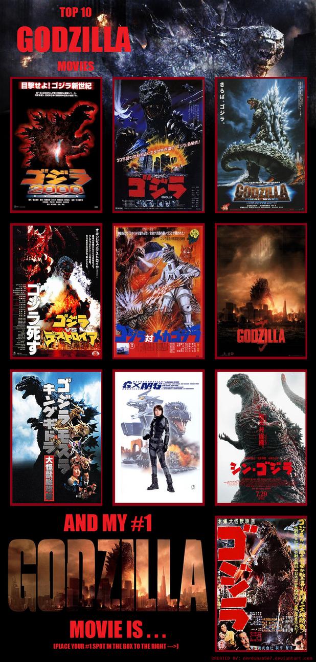 Top 10 Godzilla Movies by TheAmazingMisterZ