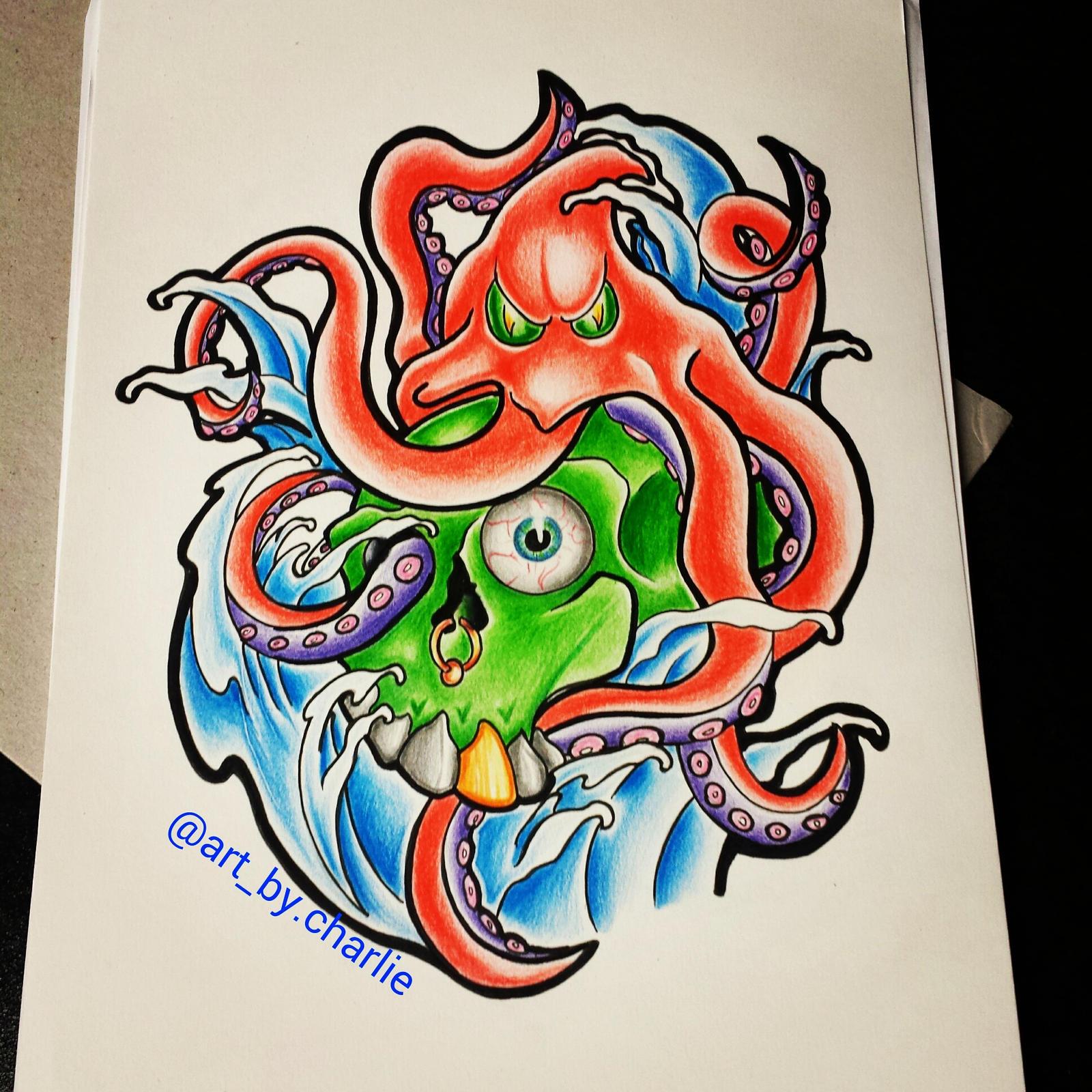 New school tattoo drawings