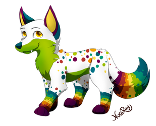 Rainbowfox by NuraRay