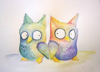 little owls by NuraRay