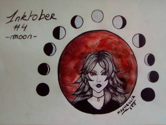 Inktober - Day 4 - Moon by SarahDealerEvans