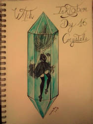 Inktober - Day 16 - Crystals by SarahDealerEvans