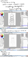 6 Process of coloring, and the brushes