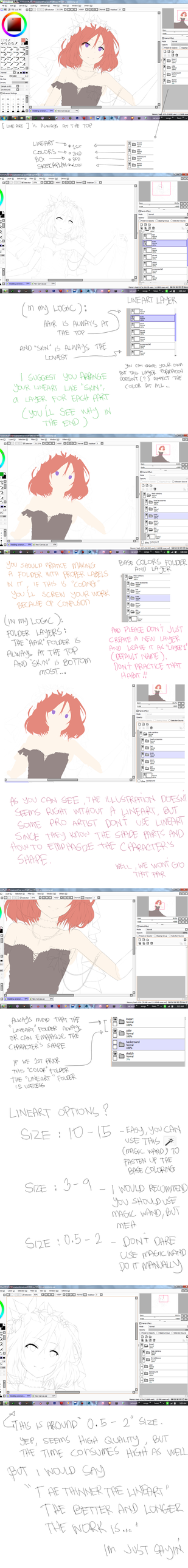 Lineart and Basecolor relationship tutorial by Hews-HacK