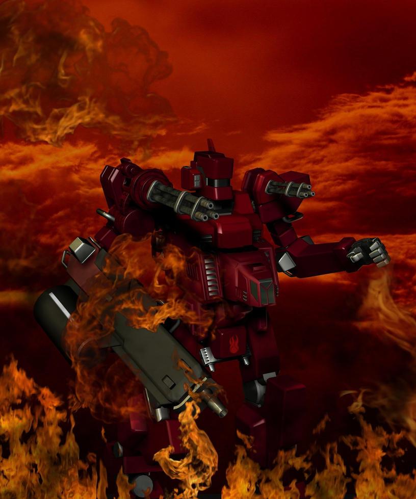 Elemental Force: Pheonix Zord by blackzig