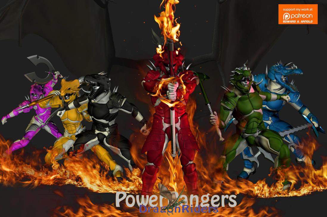 PowerRangers Dragon Riders by blackzig