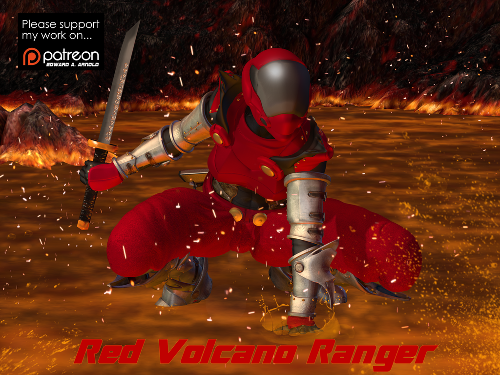 Red Volcano Ranger by blackzig