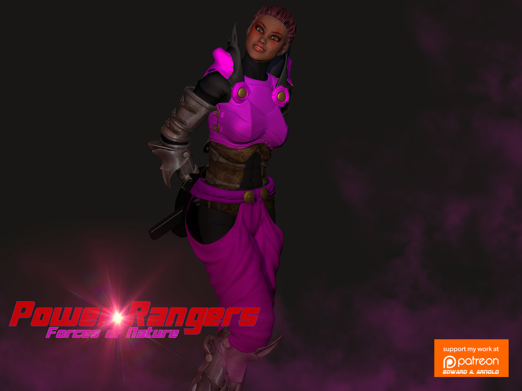 Pink Tornado Power Ranger by blackzig