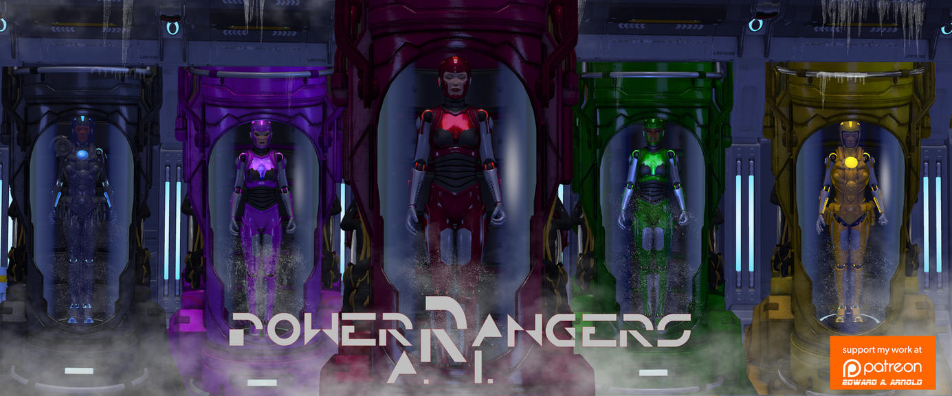 POWER RANGERS A.I. (Artificial intelligence) by blackzig