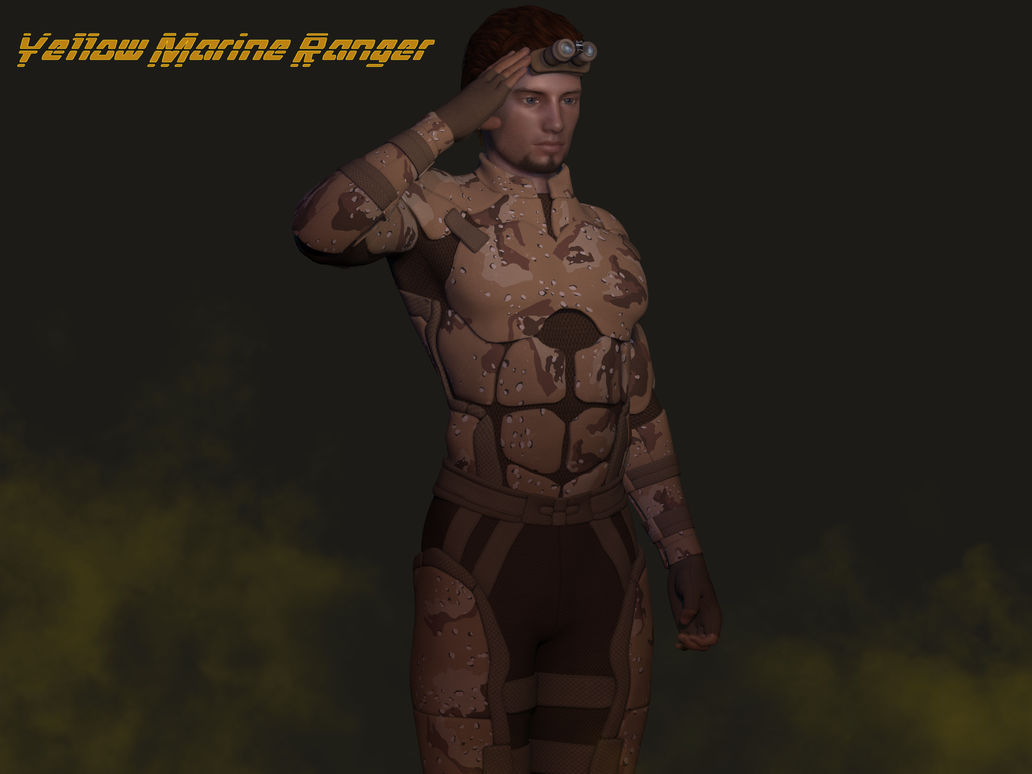 Yellow Marine Ranger3 by blackzig