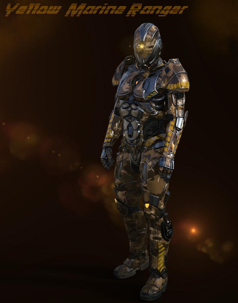 Yellow Marine Ranger2 by blackzig