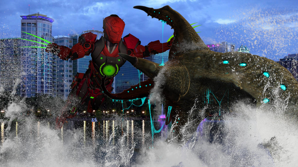 Jaeger vs. Kaiju Orlando FL. by blackzig