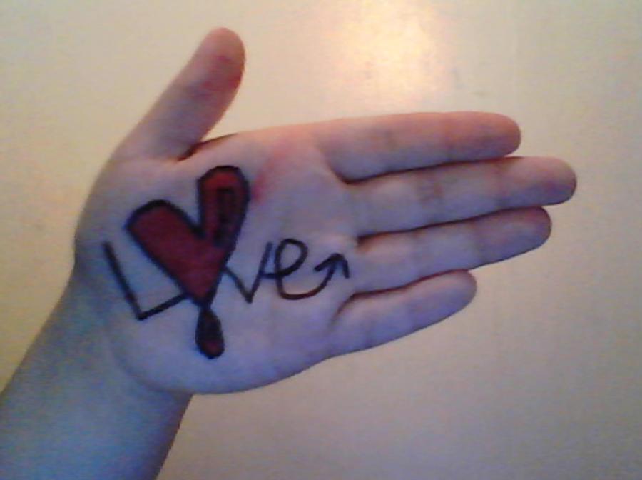 Hand Art VK Love By SaraTheSprayPainter