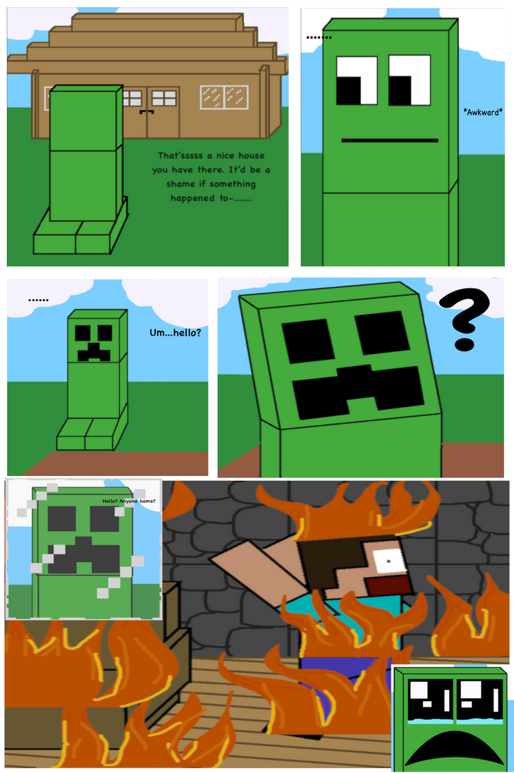 a minecraft related comic by honeyfluff on deviantart