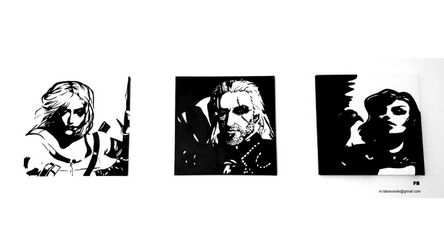 The Witcher Portraits by Faiblhoshi