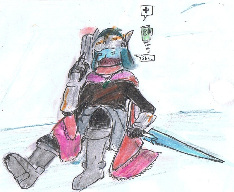 Drifter Sitting, At The Ready by xianyu118