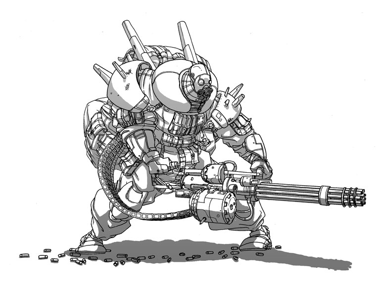 minigun finished by IgorWolski