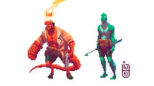 Hellboy the pixel guy