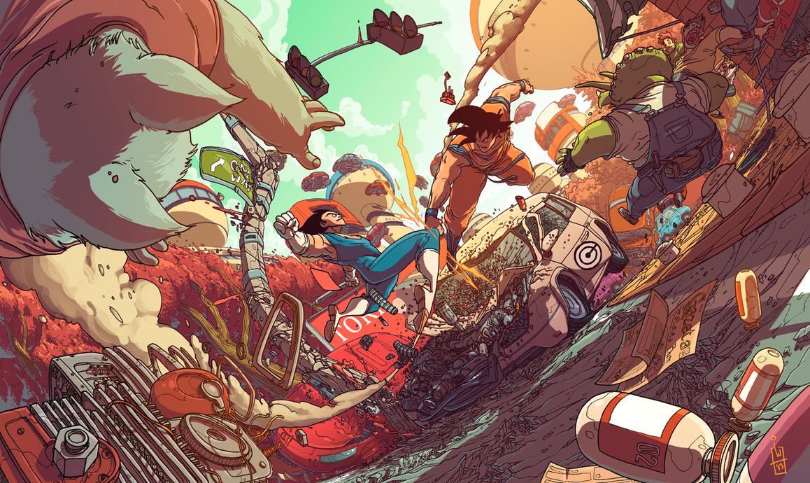 Vegeta vs Goku by IgorWolski