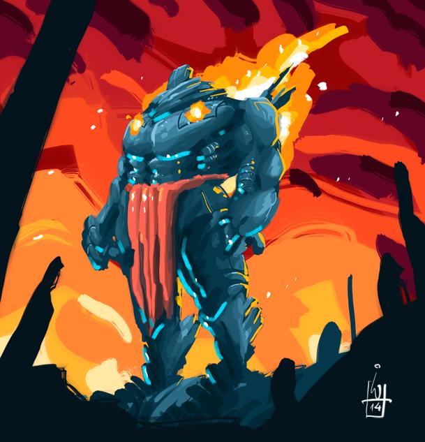 burning back by IgorWolski