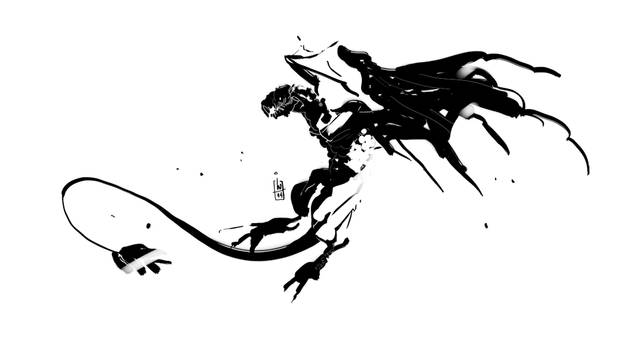 inky dragon