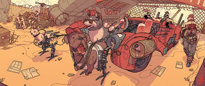 Wasteland sled dogs