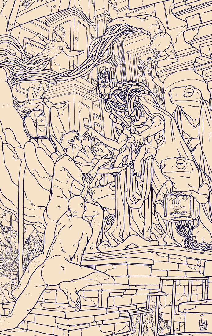 The Hand 01 - Last days of a dying world LINEART by IgorWolski